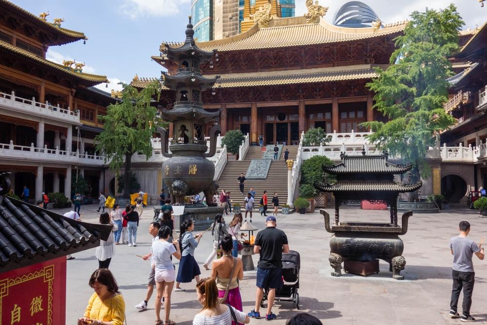 Jing'an Tempel in Shanghai / China