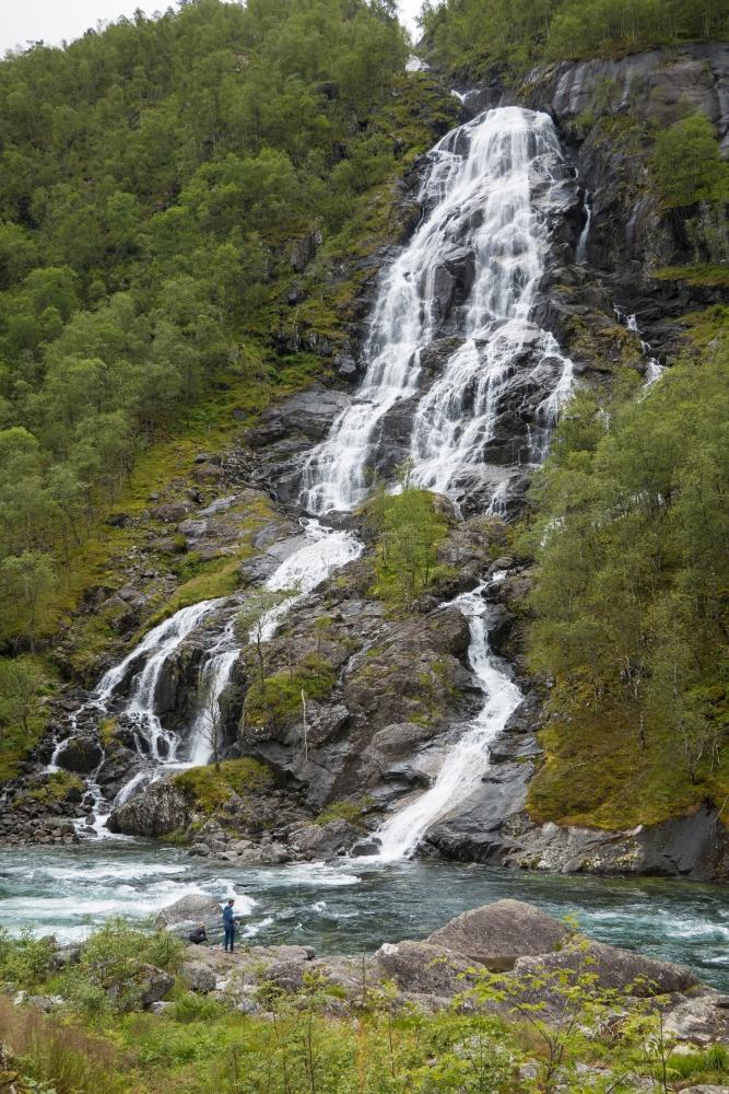 Wasserfall am Ryfylkevegen in Norwegen