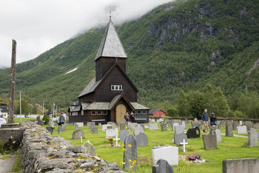 Stabkirche Røldal am Ryfylkevegen in Norwegen