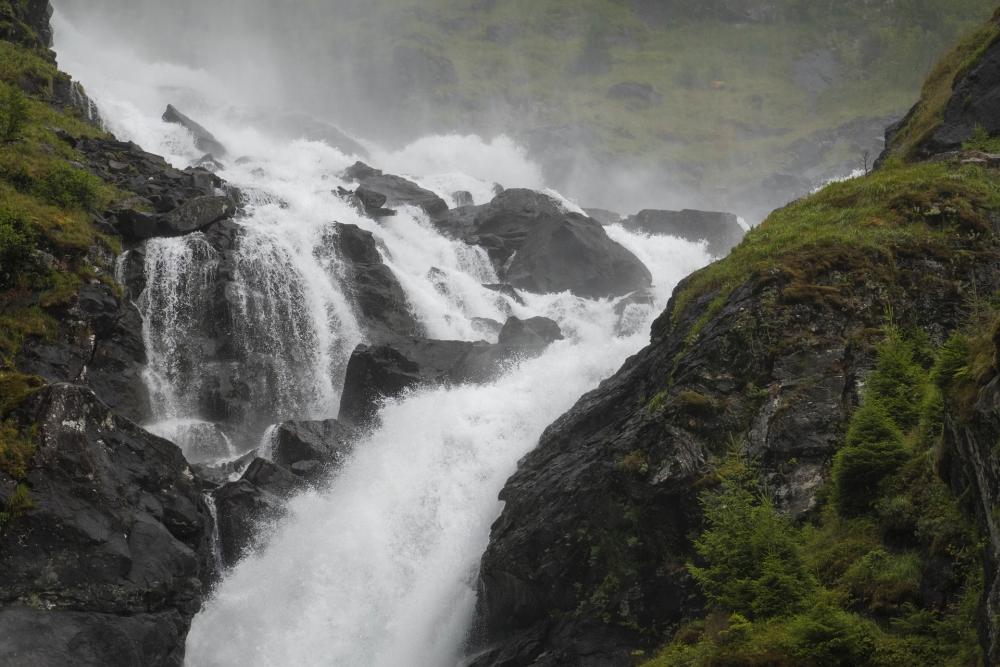 Låtefoss in Norwegen