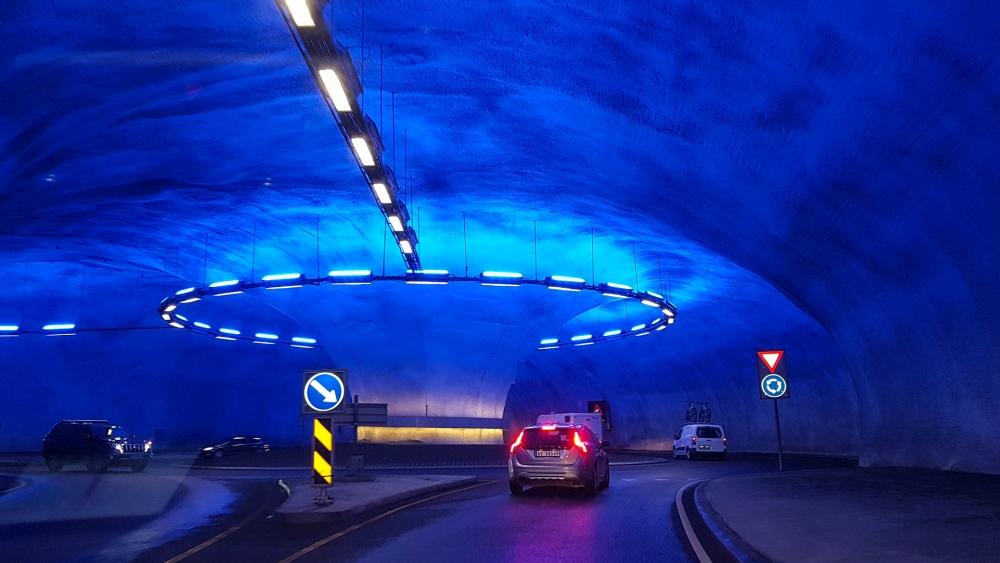 Tunnel am Eidfjord in Norwegen