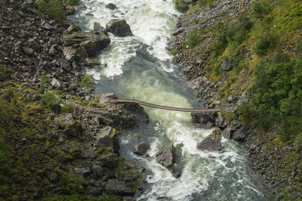 am Vøringsfoss in Norwegen