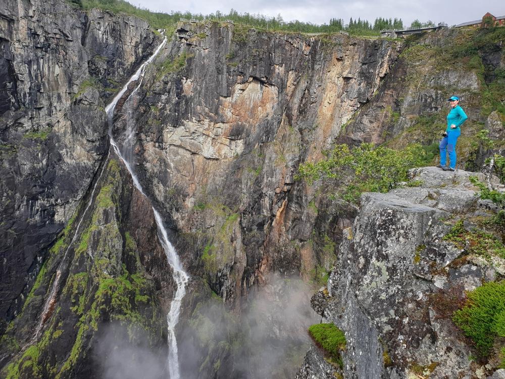 Wasserfall am Vøringsfoss in Norwegen