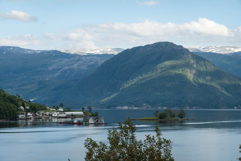 Hardangerfjord in Norwegen