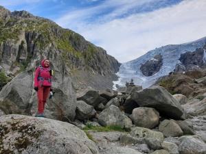 Gletscherzunge des Buarbreens in Norwegen