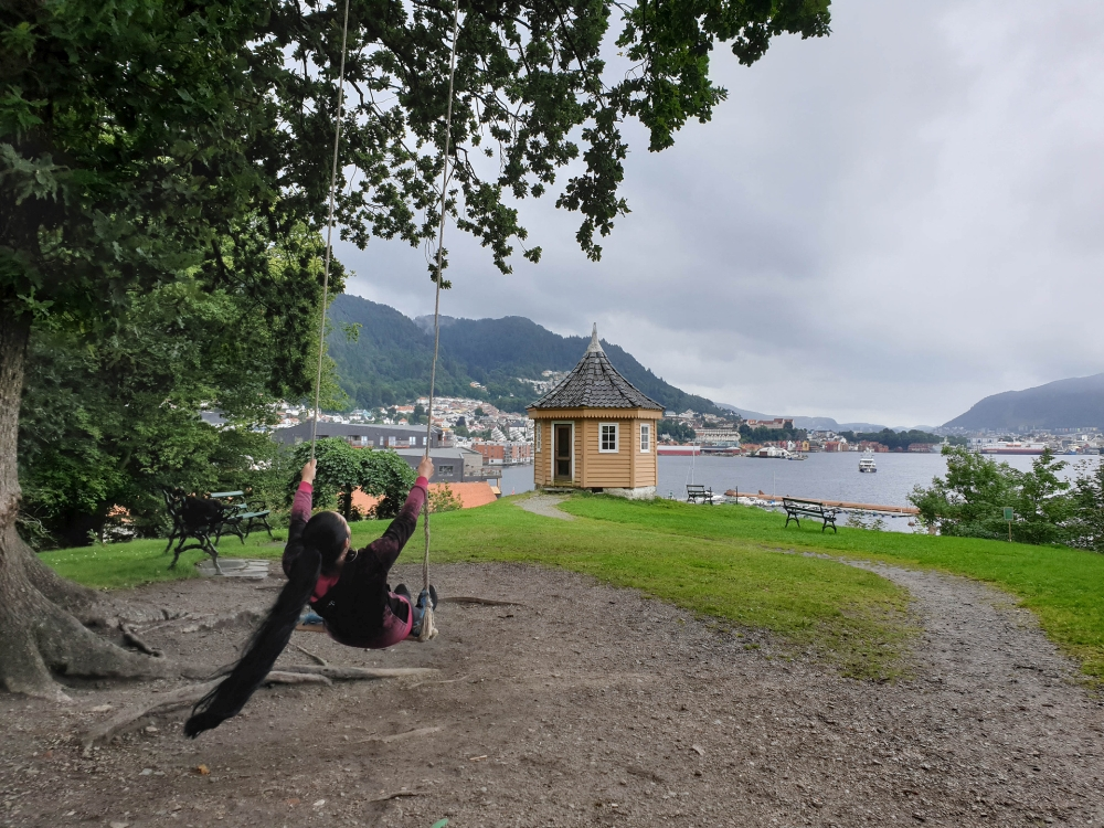 Hafen von Bergen in Norwegen
