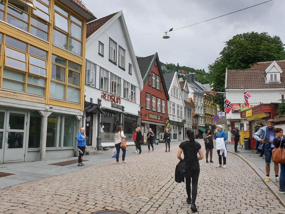 Kong Oscars Gate in Bergen in Norwegen