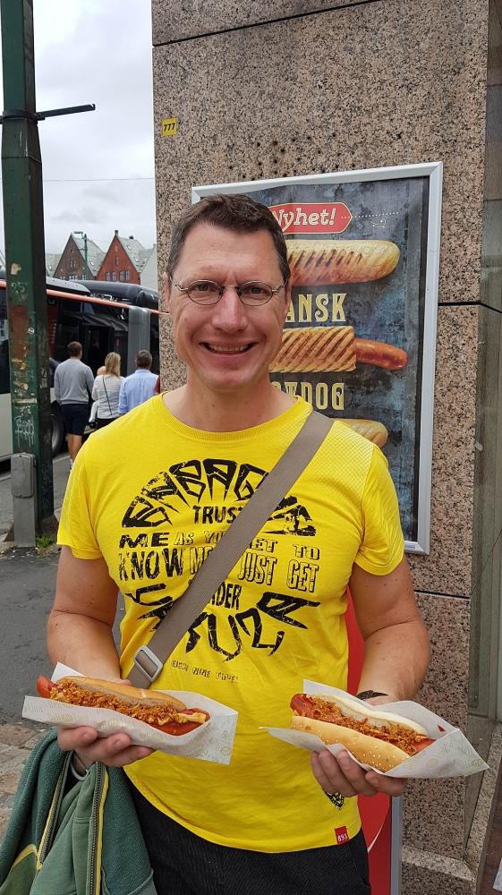 Børning Hotdogs - Verpflegung in Bergen in Norwegen