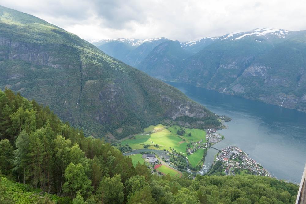 Flåm am Aurlandsfjord in Norwegen