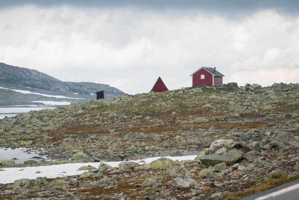 Lærdalsvegen in Norwegen