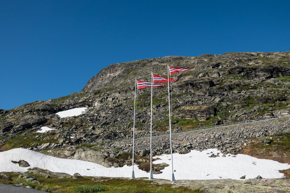 Geirangervegen in Norwegen