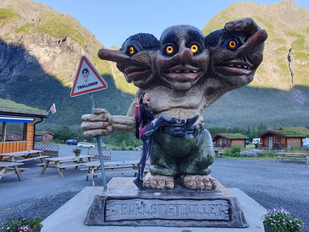 Trolle am Trollstigen in Norwegen