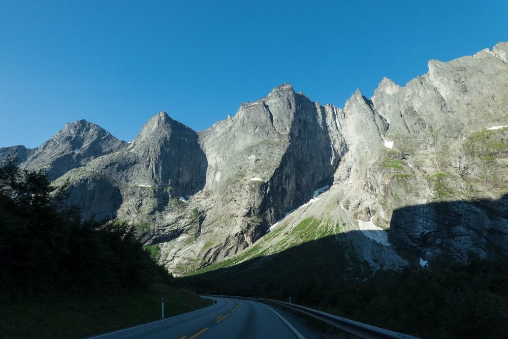 Trollwand am Trollvegen in Norwegen