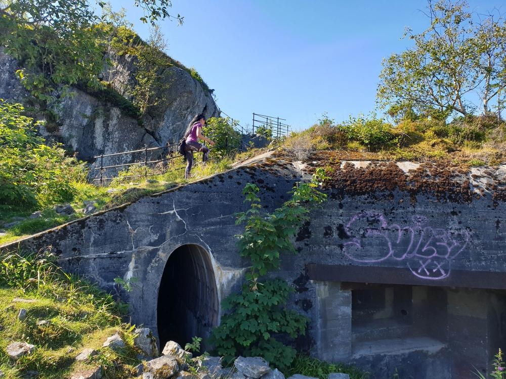 Bunker auf dem Aksla in Ålesund in Norwegen