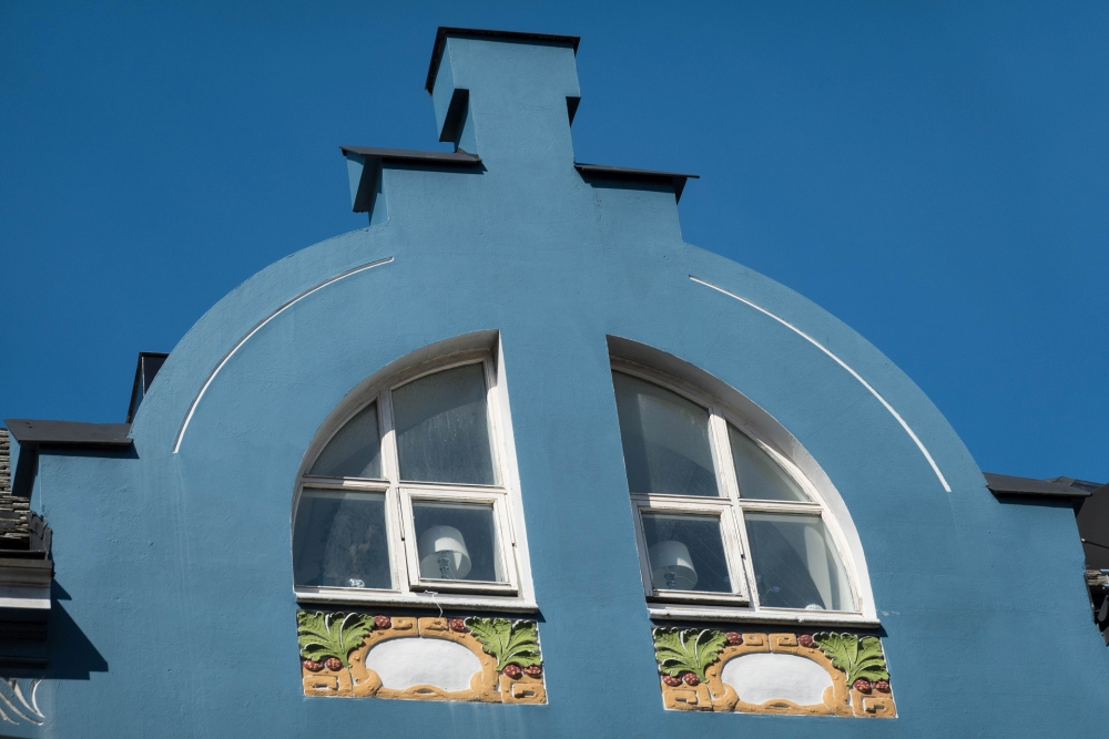 Jugendstilhauses in der Apothekergate in Ålesund in Norwegen