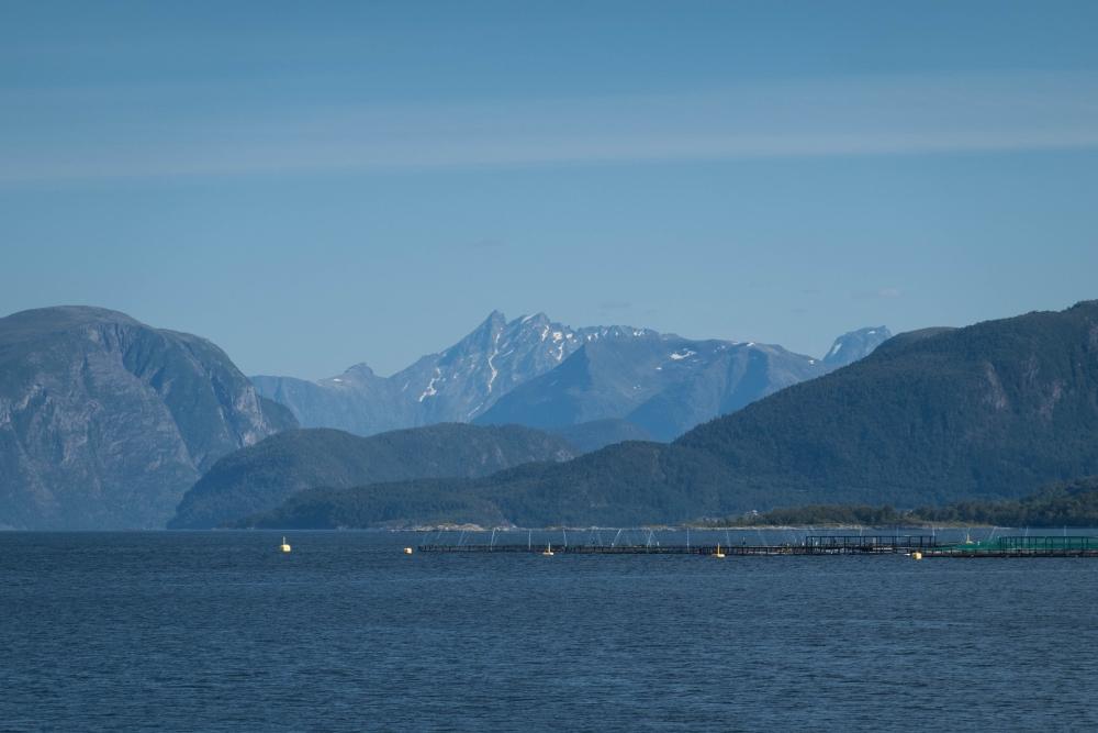 Sunnmøre Alpen bei Ålesund in Norwegen