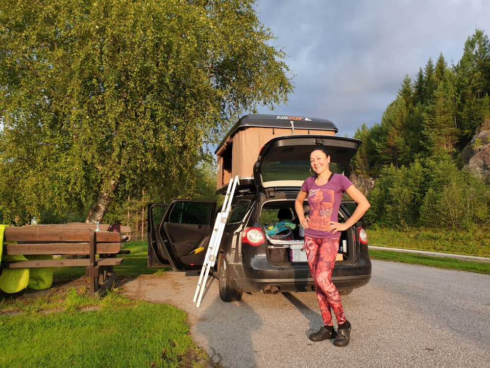 auf dem Weg nach Trondheim - Trøndelag in Norwegen