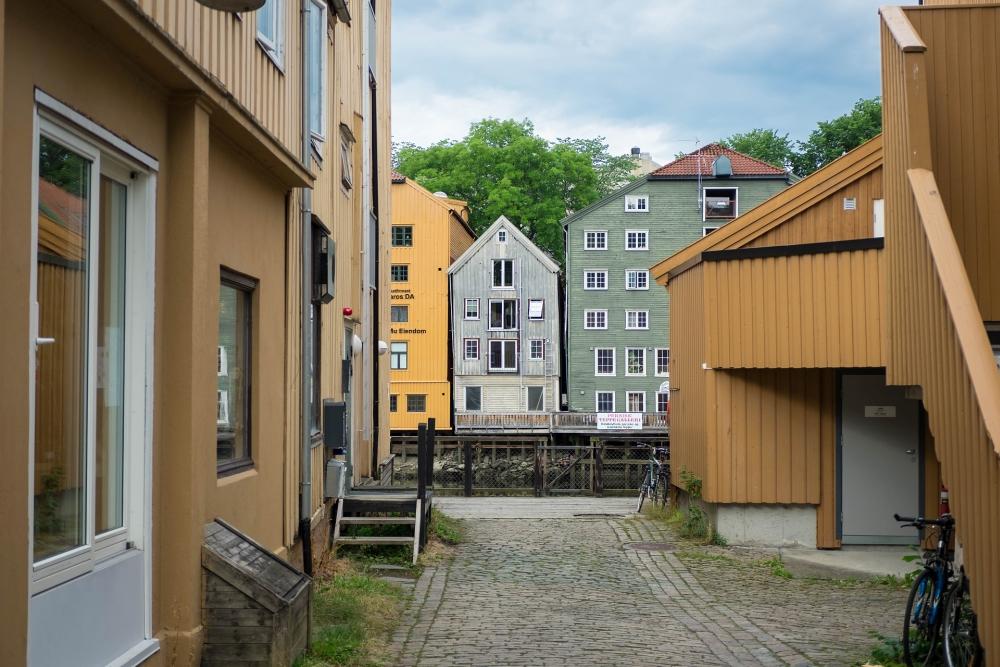 Bryggene in Trondheim - Trøndelag in Norwegen