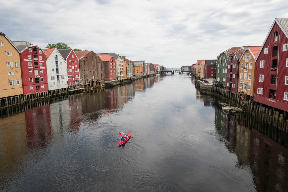 Gamle Bybrua in Trondheim- Trøndelag in Norwegen