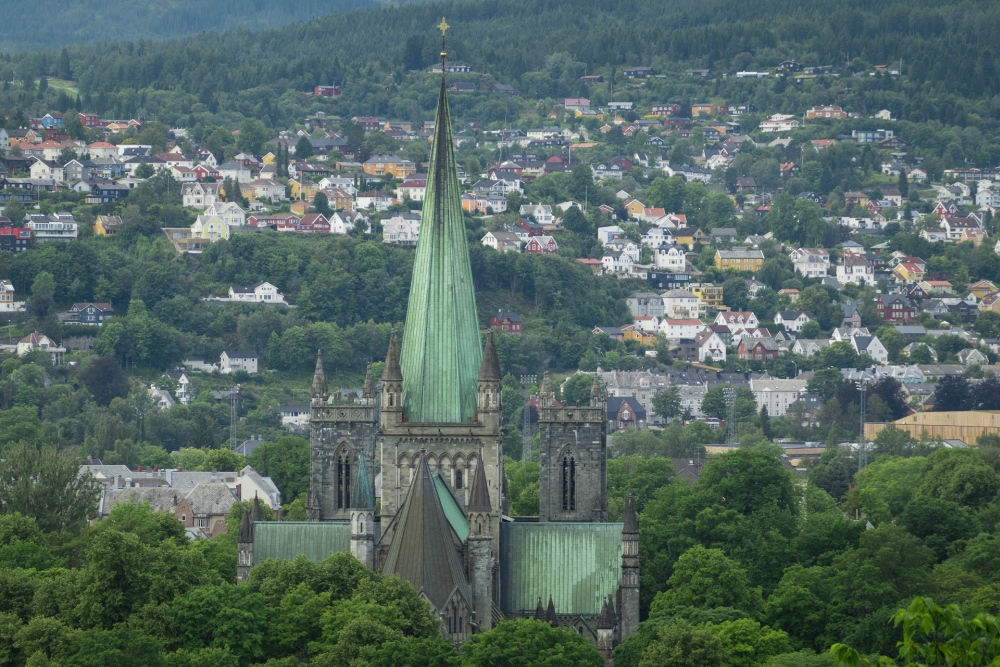 Nidarosdom in Trondheim - Trøndelag in Norwegen