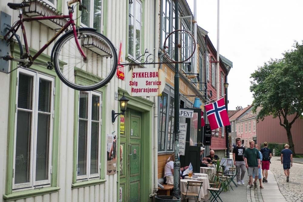 Bakklandet in Trondheim - Trøndelag in Norwegen