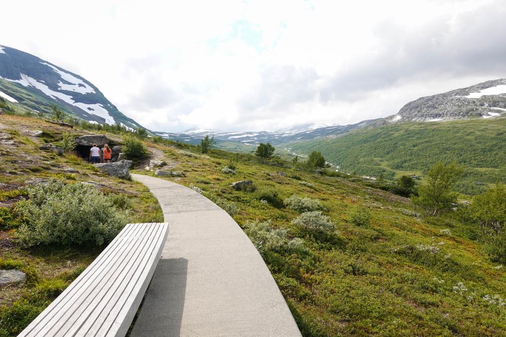 Vedahaugane am Lærdalsvegen in Norwegen