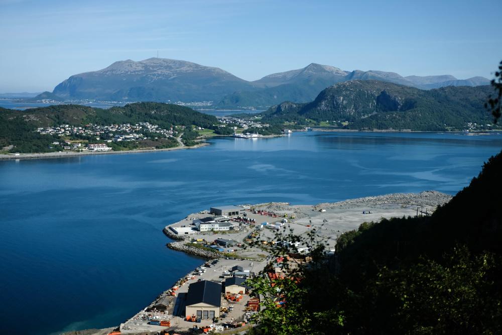 Blick vom Aksla auf Ålesund in Norwegen