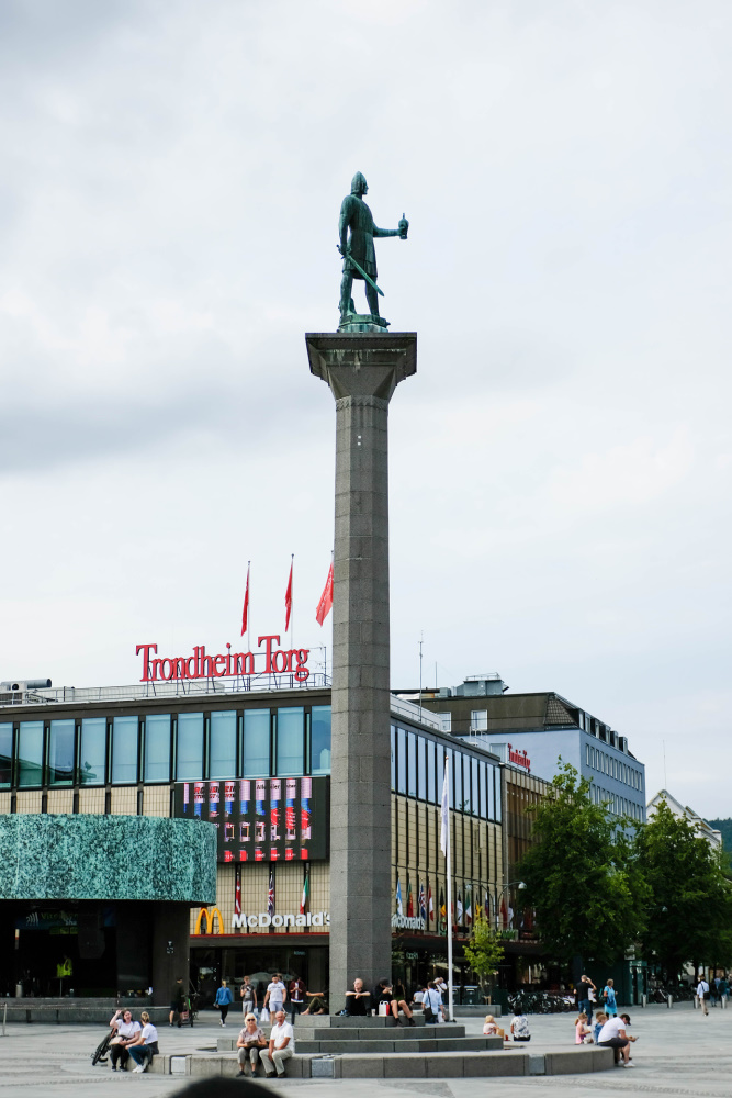 Statue Olav I. in Trondheim - Trøndelag in Norwegen