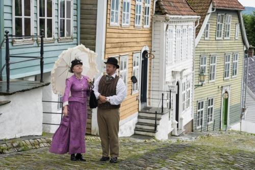 Schauspiel im Freilichtmuseum Gamle Bergen in Norwegen / Copyright by doros-reiseblog.de