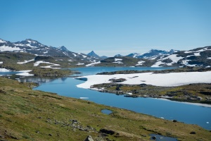 Jotunheimer Berge am Sognefjellsvegen in Norwegen