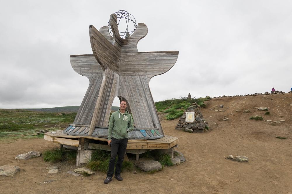 Nördlicher Polarkreis in Norwegen