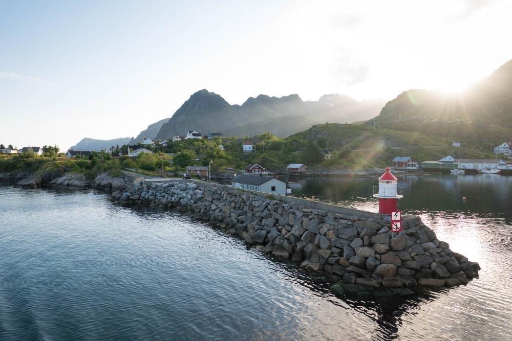 Moskenes auf den Lofoten in Norwegen