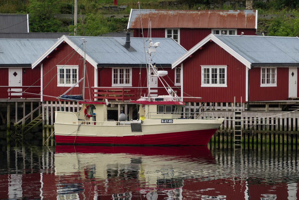 Sørvågen auf den Lofoten in Norwegen