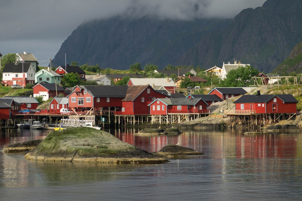 Fischerdorf Å auf den Lofoten in Norwegen