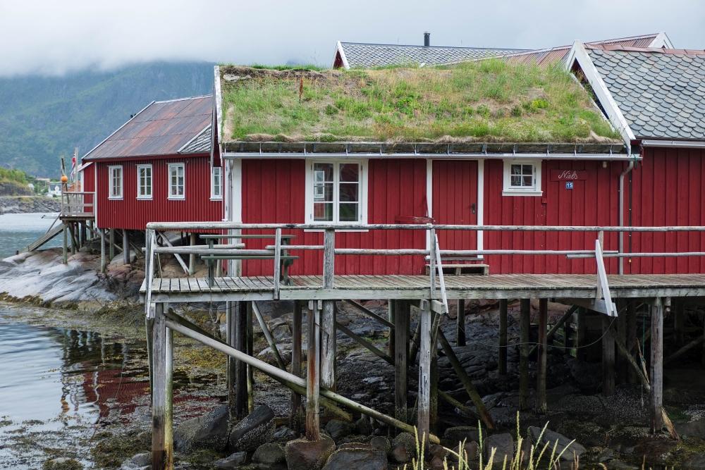 Fischerdorf Reine auf den Lofoten in Norwegen