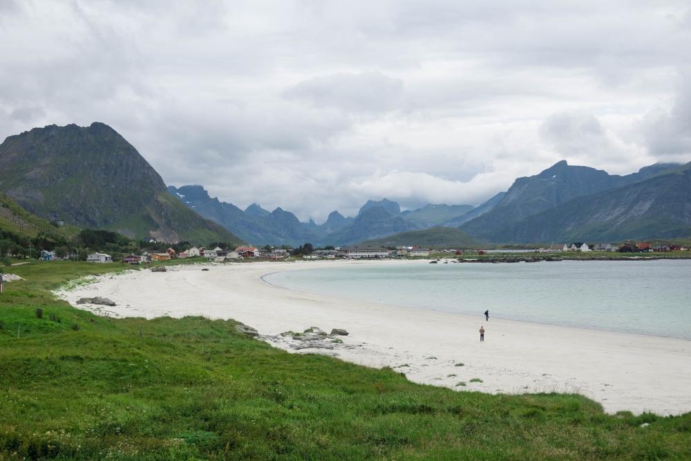 Rambergstranda auf den Lofoten in Norwegen