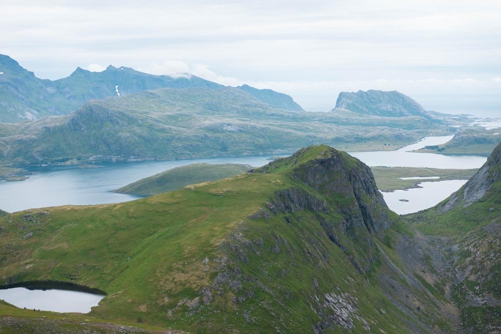 Wanderung zum Ryten auf den Lofoten in Norwegen