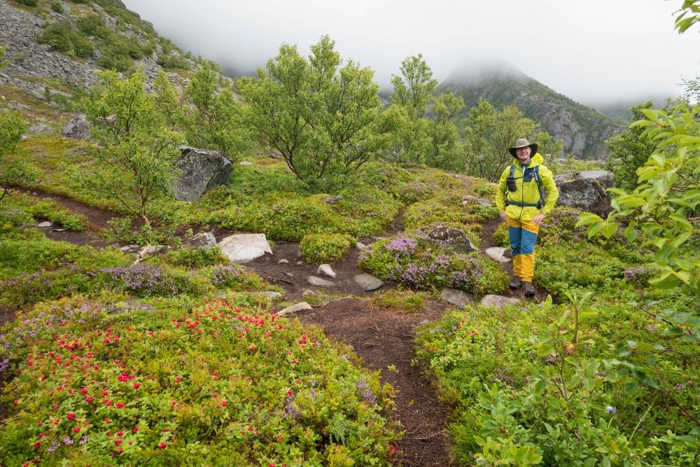 Wanderung zum Festvågtinden auf den Lofoten in Norwegen