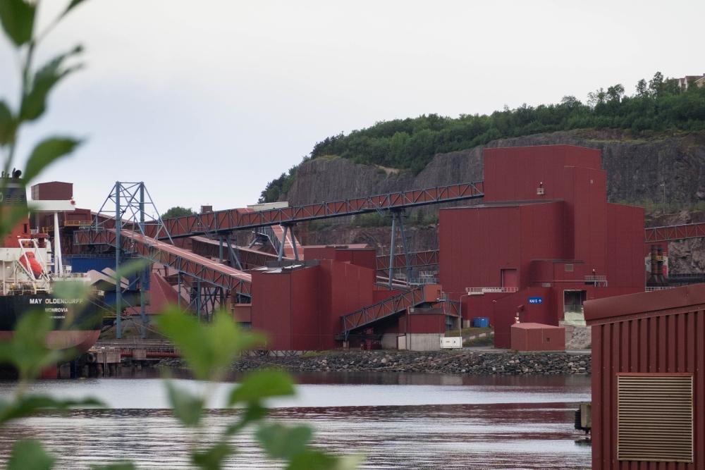 Erzverladeanlage LKAB im Umladehafen von Narvik in Norwegen