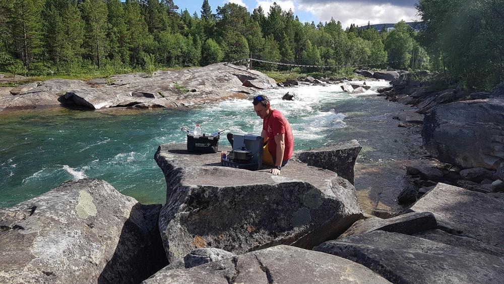 Lønselva im Saltdalen in Nord-Norge in Norwegen