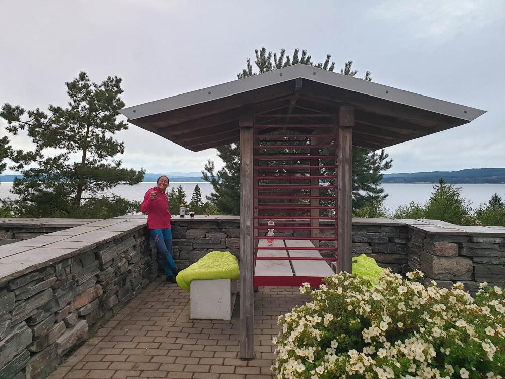 Beitstadfjord bei Steinkjier in Trøndelag in Norwegen