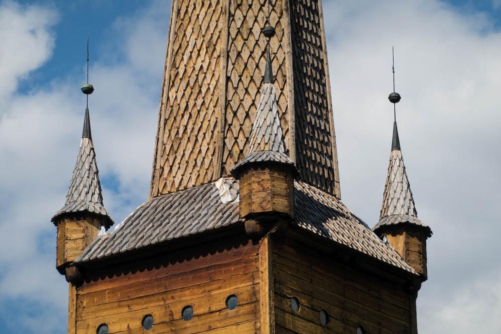 Stavkirke Vågå in Vågåmo Østlandet in Norwegen
