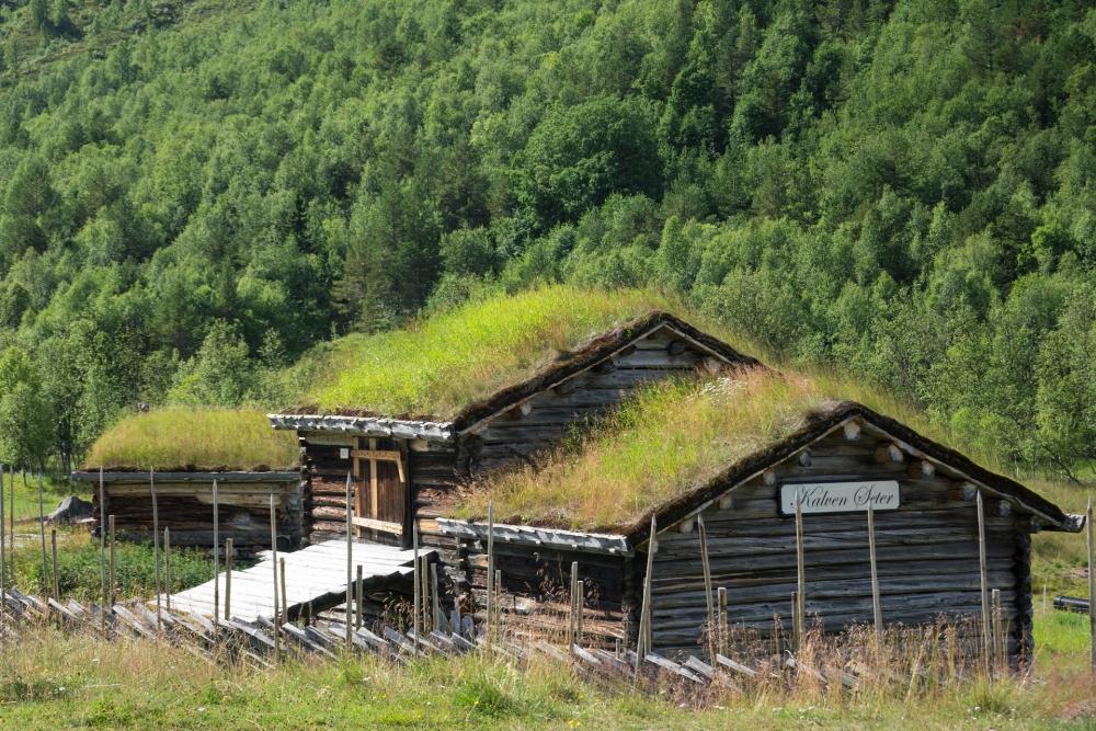 Grassodenhütte im Østlandet in Norwegen