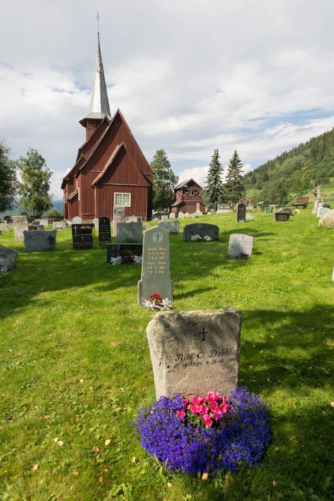 Stabkirche Hegge im Østlandet in Norwegen