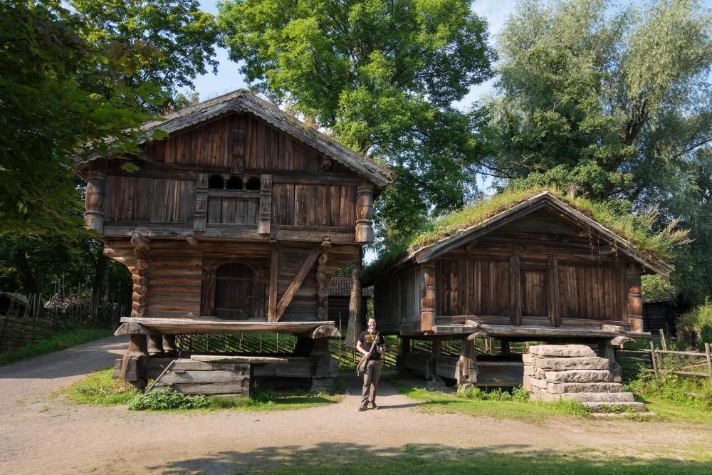 Norsk Folkemuseum auf Bygdøy in Oslo in Norwegen