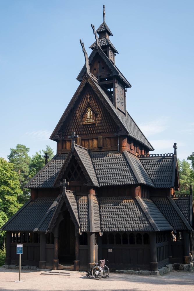 Stabkirche Gol in Bygdøy in Oslo in Norwegen