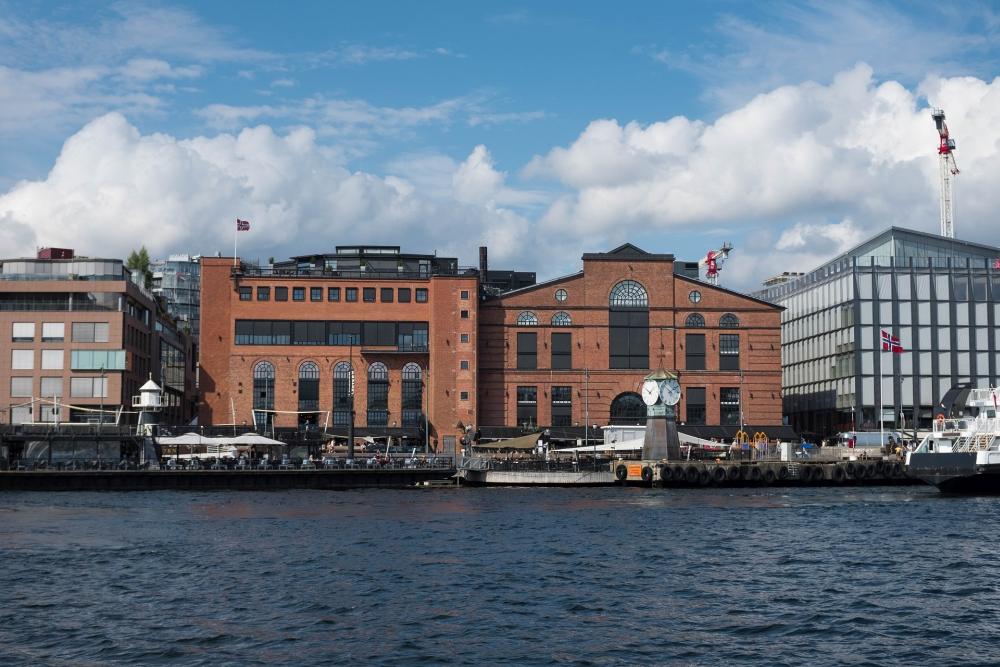Aker Brygge an der Pipervika in Oslo in Norwegen