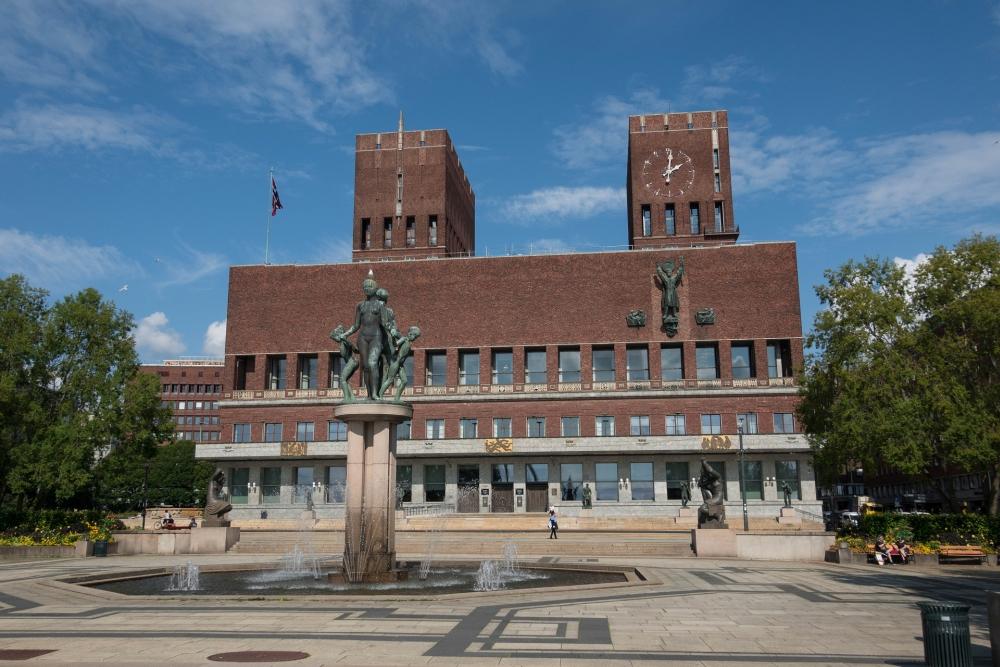 Rådhuset an der Pipervika in Oslo in Norwegen