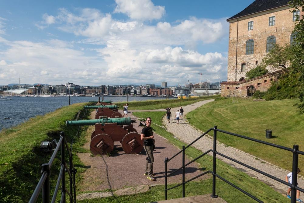 Festung Akerhus an der Pipervika in Oslo in Norwegen