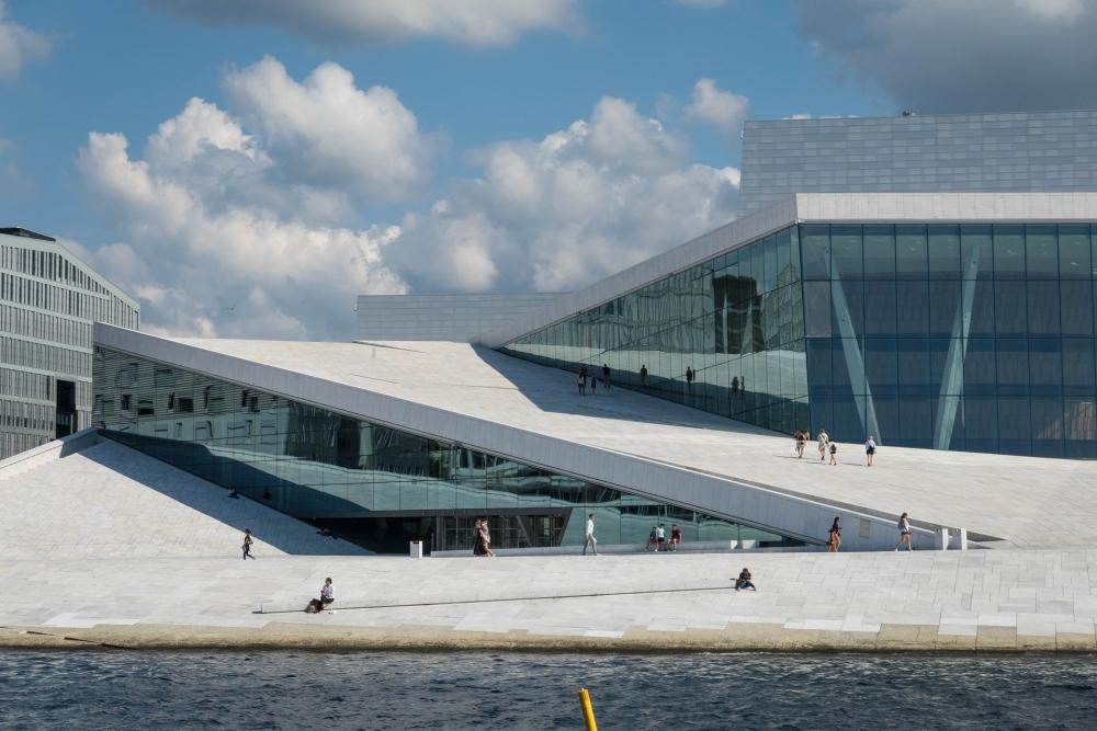 Opernhaus an der Björvika in Oslo in Norwegen
